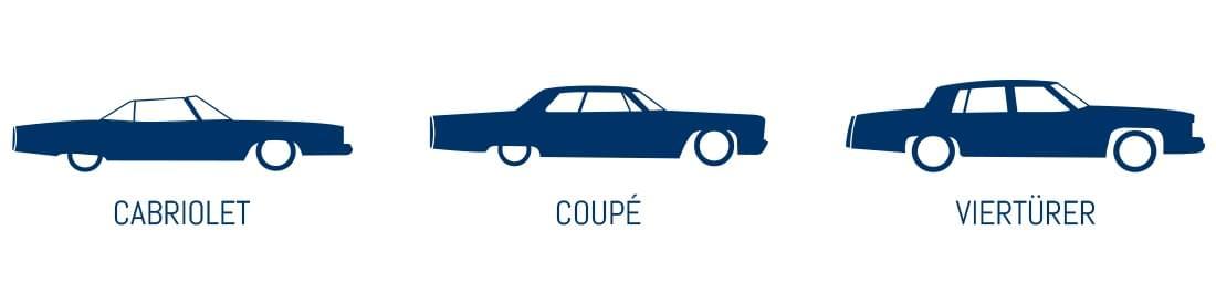 Alter Cadillac Cabriolet Coupé Viertürer