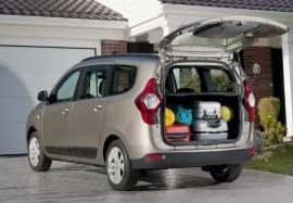 Dacia Lodgy Blick in Kofferraum