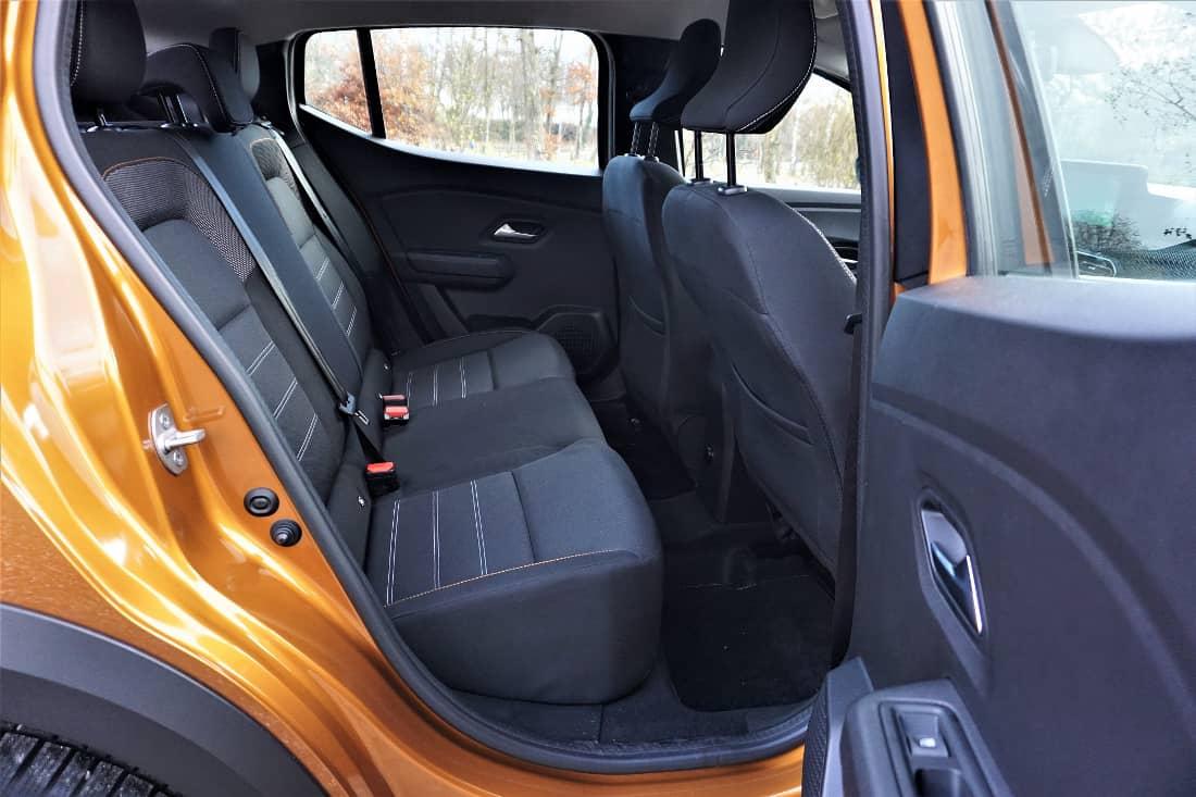 Dacia Sandero Stepway 2021 int rear seats