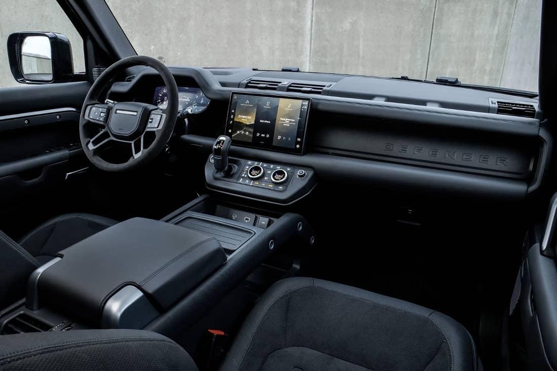 Land Rover Defender V8 interior