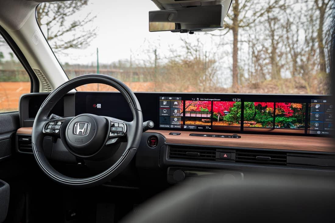Honda e 2021 displays