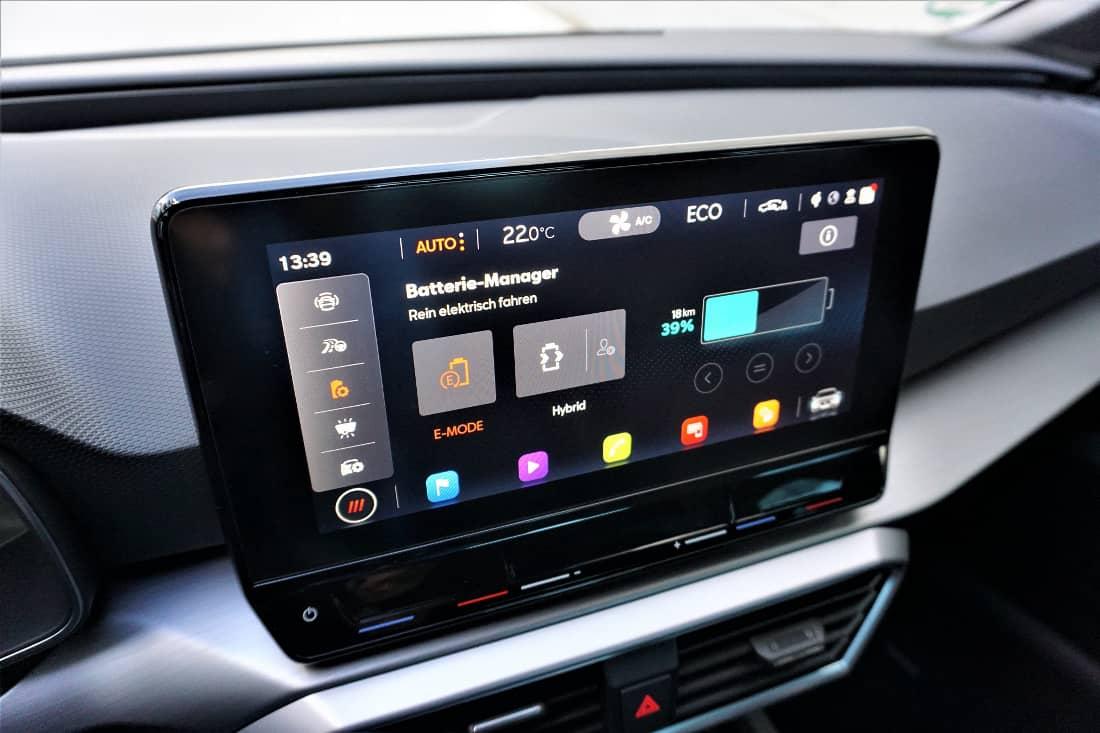 Seat Leon FR e-Hybrid 2020 Int Display E-Manager