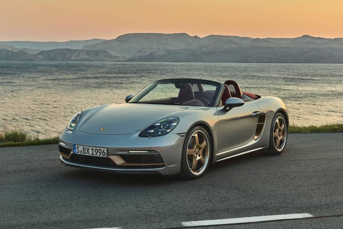 Porsche Boxster 25 years front side